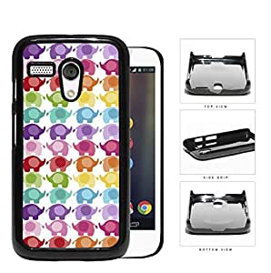 Colorful Mini Baby Elephant Pattern Hard Plastic Snap On Cell Phone Case Motorola Moto G
