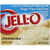 Jell-O Sugar-Free Instant Pudding and Pie Filling, Cheesecake, 1-Ounce Boxes (Pack of 6)