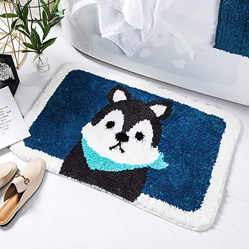 (YGYYDT Carpet Floor Mat Cartoon Door Mat Bathroom Bathroom Water Intake Door Mat Padded Non-Slip Rug (Color : Puppy, Size : 4060cm))