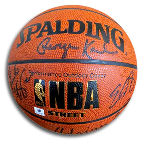 Denver Nuggets Multi Signed Autographed Basketball Anthony Karl Dantley GV541648