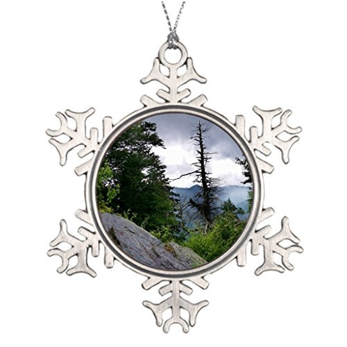 Metal Ornaments Xmas Trees Decorated Mountains Blank One size