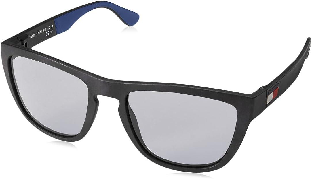 Tommy Hilfiger TH 1557/S Gafas de sol, Negro (MTT BLACK), 54 para Hombre