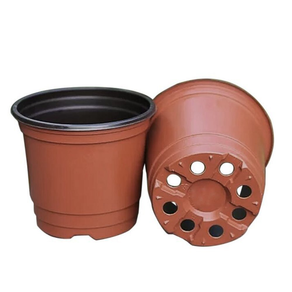 G2PLUS 50 PCS Plastic Plant/Flower Pots 15 CM Seed Tray Perfect for Gardener (Large Szie)