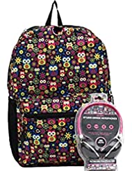 Star Point Owl Backpack with Headphones