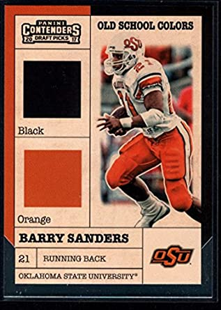 e8c4c6fef 2017 Panini Contenders Draft Picks Old School Colors #8 Barry Sanders NFL  Football Card NM