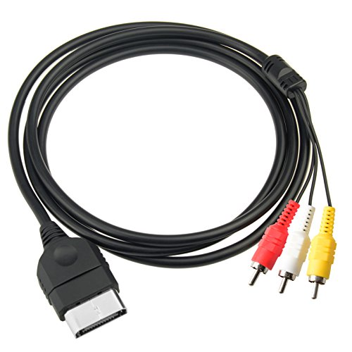 Gam3Gear Composite Audio Video AV Cable for Original Classic Microsoft XBox Gen 1 ()