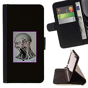 Momo Phone Case / Flip Funda de Cuero Case Cover - Scream Mad;;;;;;;; - LG G4c Curve H522Y (G4 MINI), NOT FOR LG G4