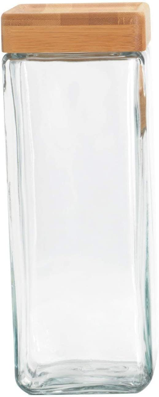 1.1 Litre Anchor Hocking Airtight Glass Pasta Cookie Candy Jar With Lid Stackable Jars