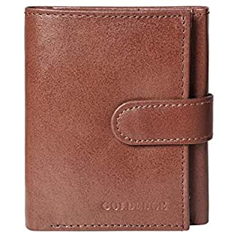 Goldedge Wallet for Men - Leather, Brown
