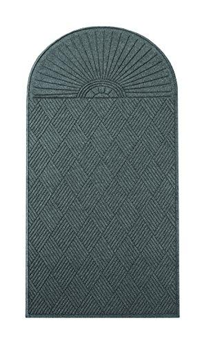Guardian EcoGuard Diamond w/Single Fan Indoor Wiper Floor Mat, Recycled Plactic and Rubber, 3'x6', Charcoal Black (Wiper Diamond)