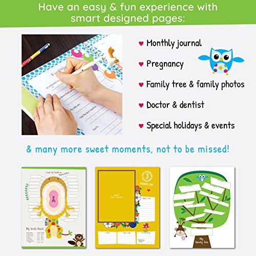 Ronica first year baby memory book baby journal modern baby ronica first year baby memory book baby journal modern baby shower gift keepsake for new parents to record photos milestones five year scrapbook solutioingenieria Images