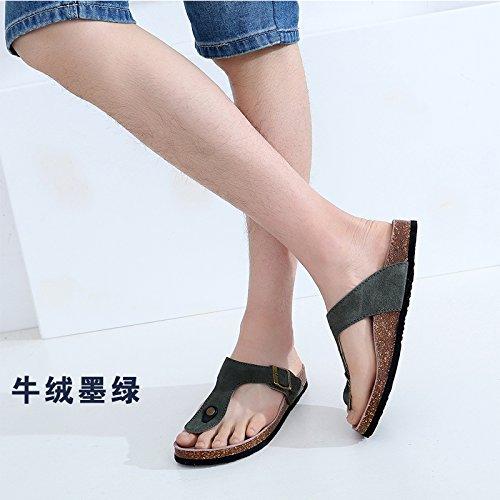 fresco da uomini spiaggia verde donne H estate sala scarpe coppie in e scuro fankou sono le donne la pantofole studenti per 40 E4OqfE