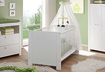 Stubenwagen Höhenverstellbar : Babybett cm weiß babyzimmer gitterbett höhenverstellbar