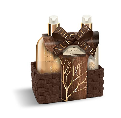 Grace Cole Warm Vanilla & Fig Perfect Pleasures Luxury Hand Care Set In Reusable Basket (Hand Gift Care)