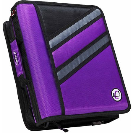 Case-It 2-in-1 Z-Binder Purple