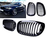 Jade Onlines Gloss Black Front Upper Kidney Grille Grilles Grill Hood Nose for BMW E46 2Dr Coupe 2004-2006