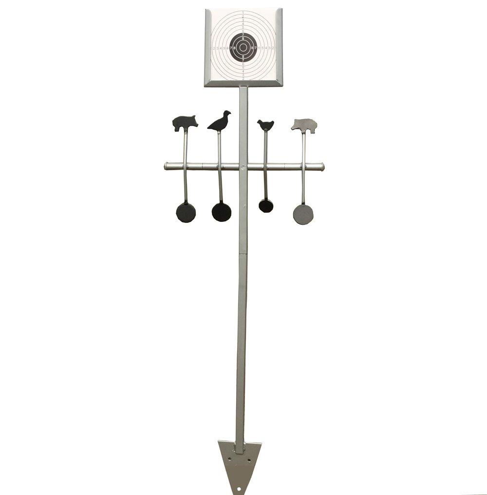 14* 14cm soporte para objetivo papel de anzuelo y animales objetivo acero objetivo Diana viene con 20pcs papel Target Target House