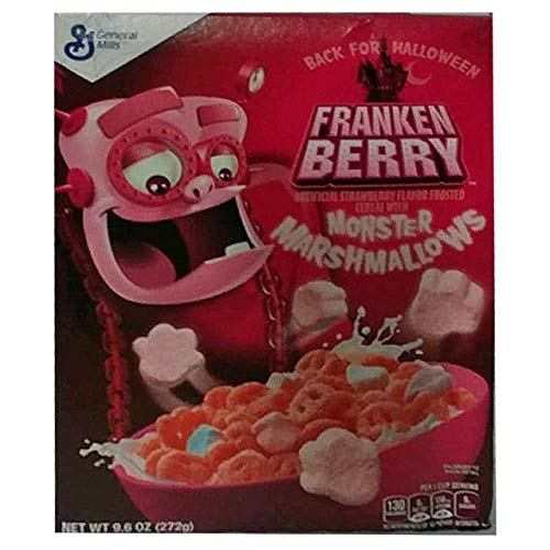 Franken Berry Halloween Cereal With Monster Marshmallows (3 Boxes)