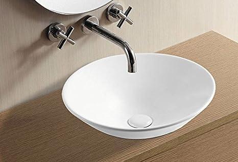 Farina lavabo bagno lavabo da incasso lavabo in ceramica bianco