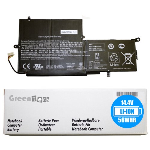 New PK03XL 789116-005 battery for HP Spectre X360 13-4000, 13-4100, 13-4200 - GreenTech 11.4V 56whr 3-Cell Li-Ion Battery PK03056XL-PL 788237-2C2 (Battery 56whr New)