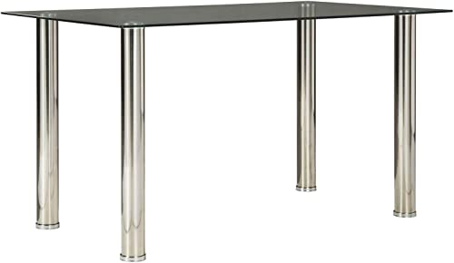 Signature Design by Ashley Sariden Dining Room Table, Chrome Finish