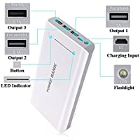 50000mAh Portable 3USB External Battery USB Power Bank Charger for Mobile Phone