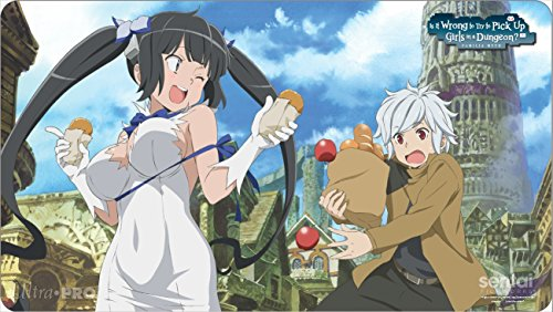 Official Is It Wrong to Pick Up Girls in a Dungeon? (DanMachi) ''Bell & Hestia'' Playmat by Ultra Pro