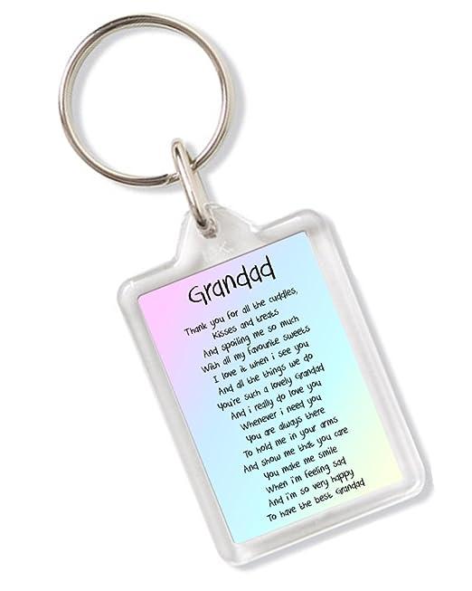 Abuelo poema llavero ideal para regalo de cumpleaños día del ...
