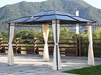 Papillon - Pérgola con techo de policarbonato – Medidas 360 x 300 ...
