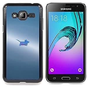 Stuss Case / Funda Carcasa protectora - Gris Pequeño Pintado Lindo - Samsung Galaxy J3 GSM-J300