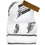 Kaydee Baby Organic Muslin Cotton Swaddle Blankets - Set of 2-47x47 Inch Large Unisex Swaddling...