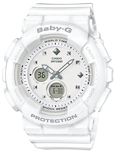 Casio Women's Baby-G BA125-7A White Rubber Quartz Sport Watch