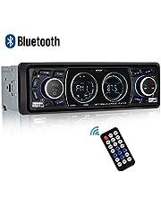 Autoradio Bluetooth Coche, ieGeek Autoradio Bluetooth Manos Libres, USB/SD/AUX/FM/WMA/Reproductor de MP3/Pantalla LCD de Audio con Control Remoto Inalámbrico