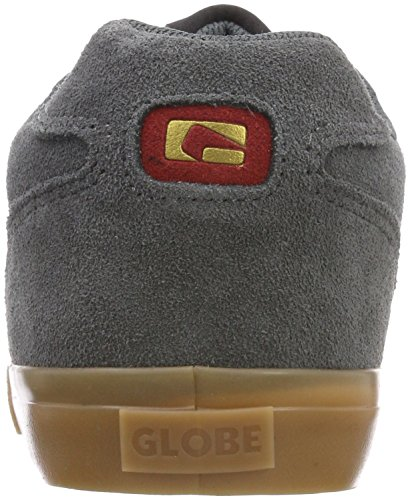 Gris red charcoal 15234 Skateboard Garçon gum Globe Chaussures De 2 Encore qwwY7