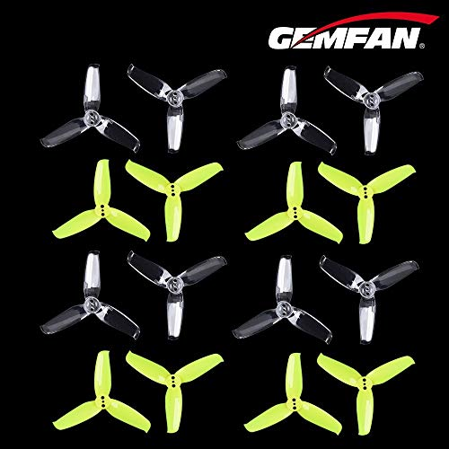 GEMFAN 2540 Propeller 3-Blade 2.5 Inch Tri-Blade Props Compatible with 1104 1105 1106 Brushless Motors for Micro FPV Drone QuadcoptePack of 16pcs