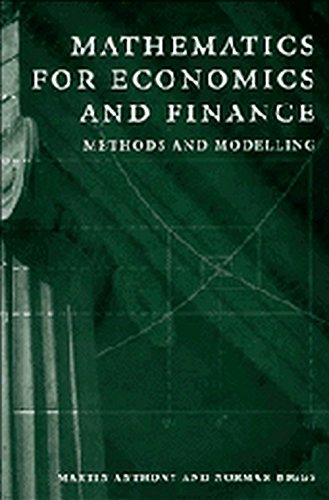 Mathematics for Economics and Finance South Asian Edition: Methods and Modelling
