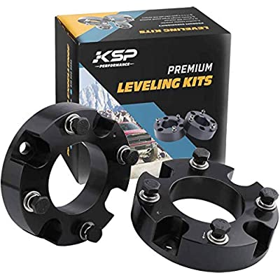 "KSP Lift Kit Front 2"" Aircraft Billet Strut Spacers Leveling Lift Kit Fit for Tundra 2WD 2X2 4WD 4X4 2007-2020: Automotive"