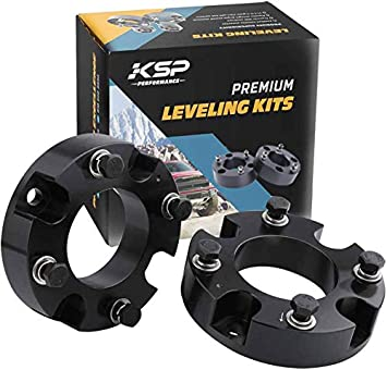 Street Dirt Track Fits 2007-2019 Toyota Tundra and Toyota Sequoia 2 Front Leveling Lift Kit 2WD 4WD Billet Aluminum Strut Spacers