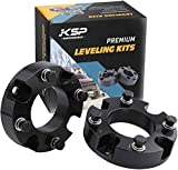 """KSP Lift Kit Front 2"""" Aircraft Billet Strut Spacers Leveling Lift Kit for Toyota Tundra 2WD 2X2 4WD 4X4 2007-2019"""