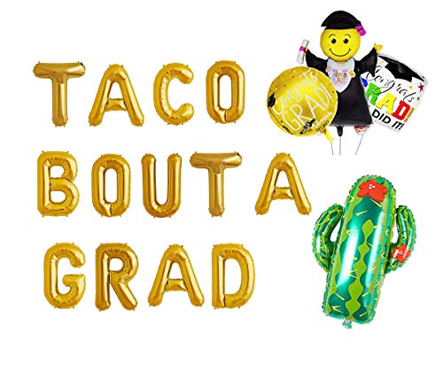Taco Bout a Grad Balloons Banner Cactus and