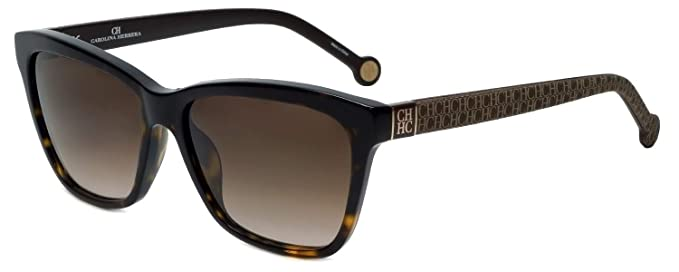b459081a0f Carolina Herrera SHE701 BROWN GRAY LOGO (722) - Gafas de sol: Amazon.es:  Ropa y accesorios