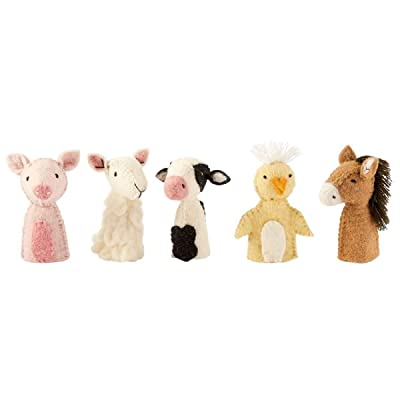 Mud Pie Barnyard Finger Puppet Set: Toys & Games