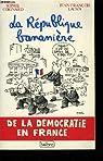 La République bananière. De la démocratie en France par Mafai