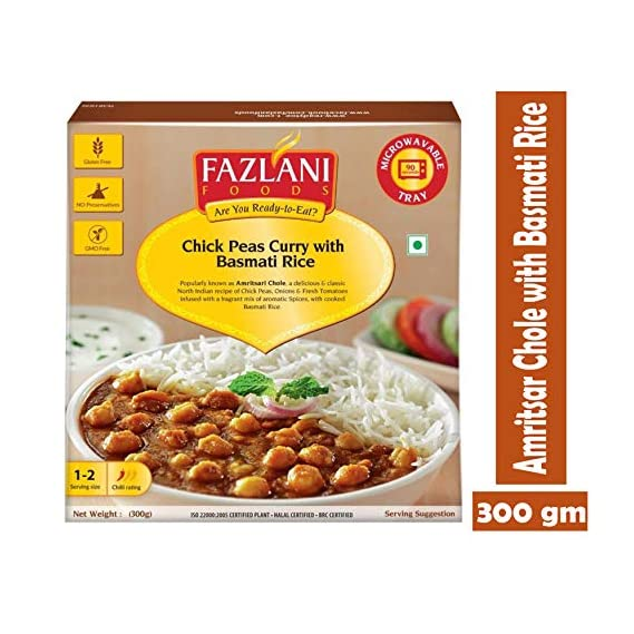 FAZLANI FOODS Ready to Eat Amritsar Chole with Basmati Rice -300gm
