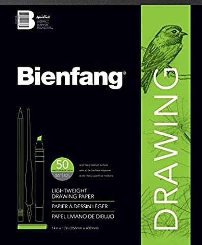 Bienfang R230742 14 by 17-Inch Drawing Paper Pad, 50 Sheets - Recycled Paper Pads