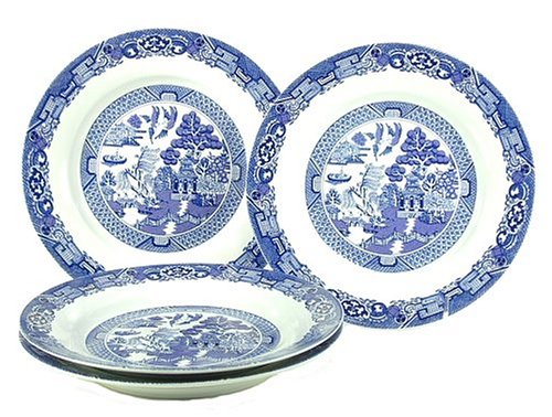 Cuthbertson Blue Willow - Royal Cuthbertson Blue Willow Salad Plates, Set of 4