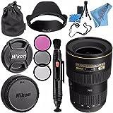 Nikon AF-S NIKKOR 16-35mm f/4G ED VR Lens 2182 + 77mm 3 Piece Filter Kit + Lens Pen Cleaner + Fibercloth + Lens Capkeeper + Lens Cleaning Kit Bundle