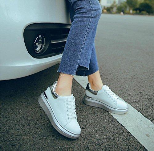 Mme Spring chaussures d'ascenseur chaussures étudiants muffin chaussures à fond épais chaussures casual chaussures en dentelle simples , US7.5 / EU38 / UK5.5 / CN38