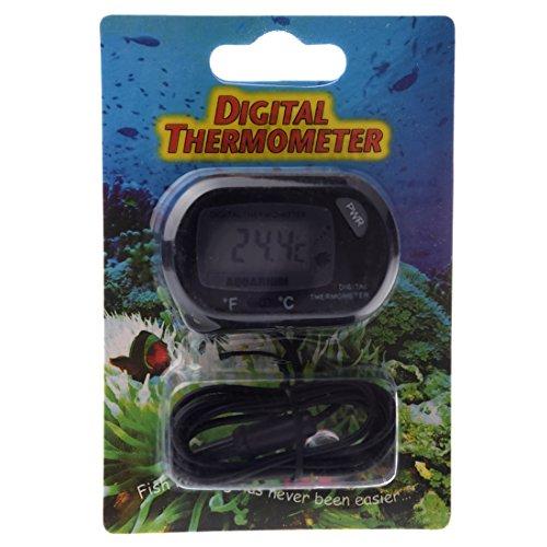 SODIAL(R) Termometro de Terrario de Acuario Digital ST-3 Negro: Amazon.es: Bricolaje y herramientas