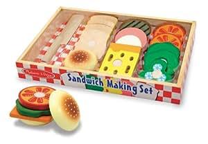 Melissa & Doug Wooden Sandwich-Making Set